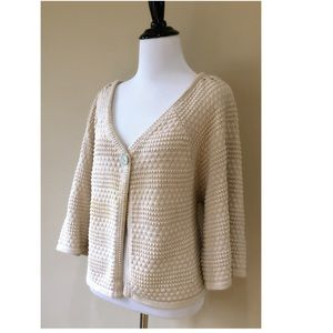 Anthro Leo & Nicole Honeycomb Cape Style Cardigan
